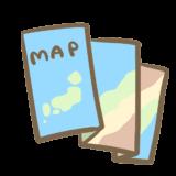 コンパクトに折りたためる地図の画像